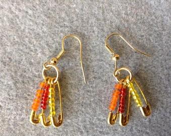 Golden Flame Earrings
