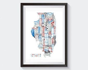 Chicago Digital Print