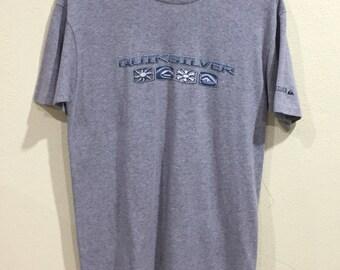 Rare!!! Vintage 90's  Quiksilver T-shirt Hawaiian Surf Surfboards Skateboards