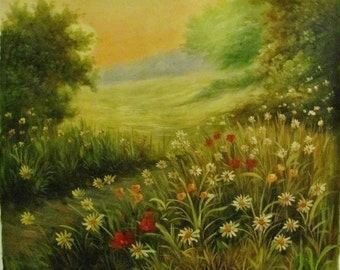 "Meadow flowers  oil painting on canvas 24""x20"" (60cmx50cm)"