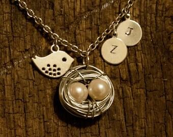 Customized Momma Bird Necklace