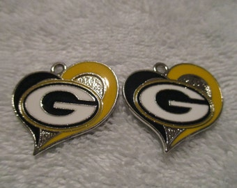 Set of 2 Greenbay Packers Charms.