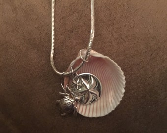 Sea shells earring and necklace