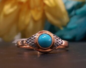 Antique Turquoise Ring from Soviet Russia