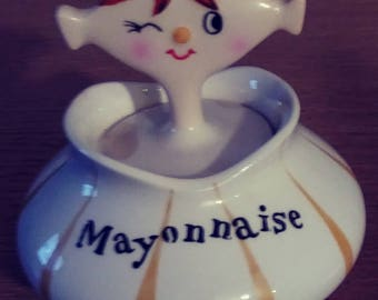 1*OF*A*KIND**RARE Holt and Howard Ceramic Mayonnaise Bowl made in 1959