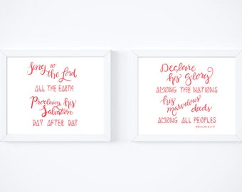 Sing to the Lord set of two prints, digital printable