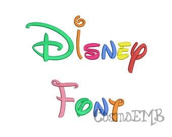Disney Font  Font Embroidery Design Machine Embroidery - Digital INSTANT DOWNLOAD