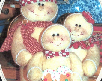 """The Ginger Family a 12 1/2"""" Tall Gingerbread Family Pattern"""