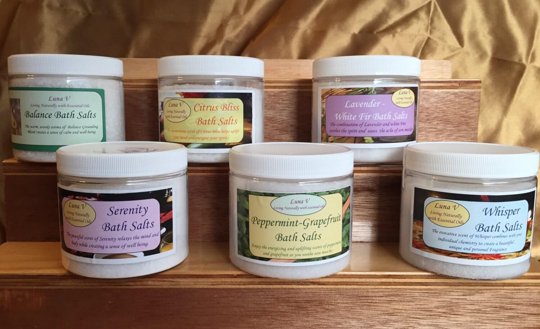 Organic Bath Salts With Essential Oils