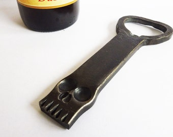 Blacksmith hand forged beer opener Skull - Free WorldWide Shipping