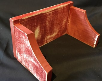 Small red wall shelf