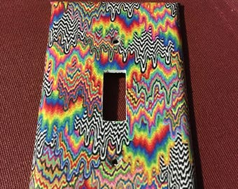 Psychedelic tie-dye switch plate
