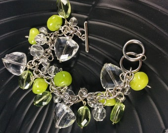 Apple green bauble bracelet (B003) 7.5 inches