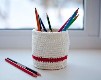 Knit basket, Knit Organizer, Rope crochet basket, Crochet storage basket, Baby storage, Nursery storage, Kids room basket, Bathroom basket