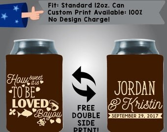 How Sweet It Is to Be Loved By You Collapsible Neoprene Can Cooler Double Side Print (W7)