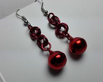 Earrings Red Bells