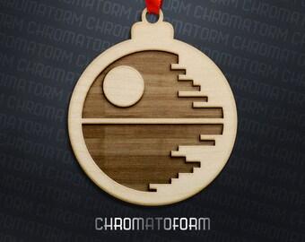 Death Star II Ornament - Star Wars Christmas Tree Ornament - Laser engraved