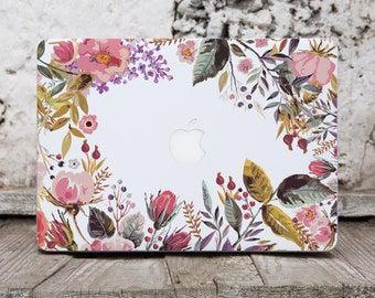 Floral Macbook Pro Sticker Laptop Skin Macbook Decals Computer Sticker Macbook Air Skin Vinyl Laptop Decal Flowers Macbook Pro 15 Cover 026