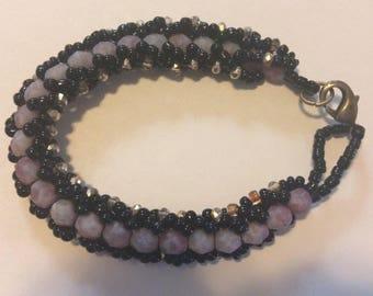 Rose Pink Sparkle Bracelet