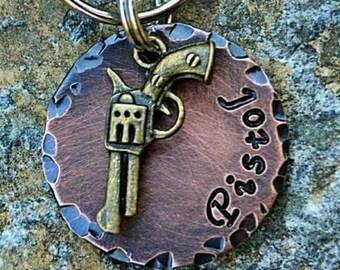 Pet Accessories - Dog Tags - Pet ID - Cat Tag - Collar Tag - Pets - Pet Tag - Metal ID - Custom ID Tag - Personalized Pet Tag - Pistol