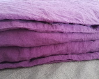 Washed Linen Duvet Cover, Linen Duvet Cover, Levander Linen Duvet Cover