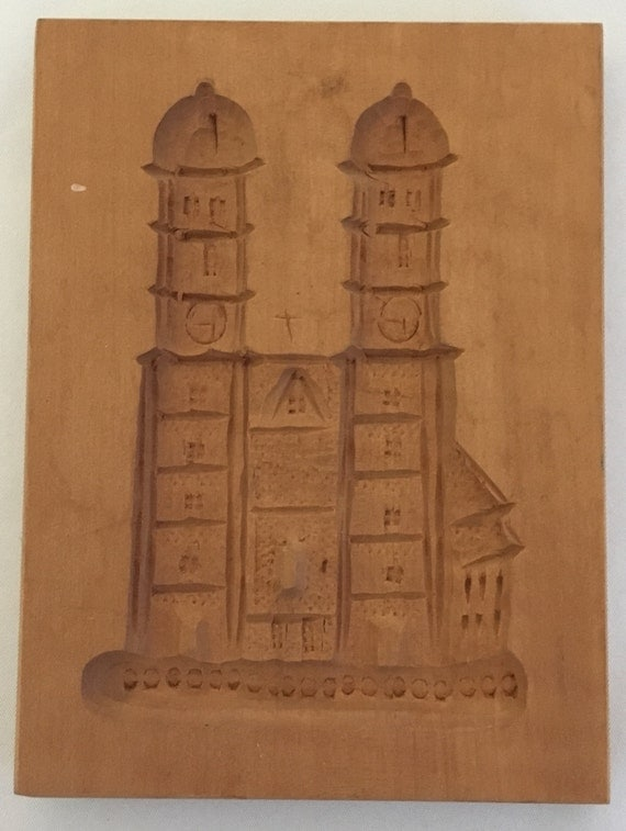 Springerle Vintage Hand-Carved Cookie/Paper Mold (East Germany) – Cathedral