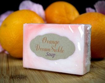 Orange Dream Sickle Goats Milk Soap Glycerine Soap