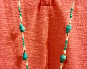 Turquoise Sea Shell Necklace