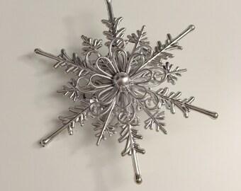 Metallic Snowflake - Silver