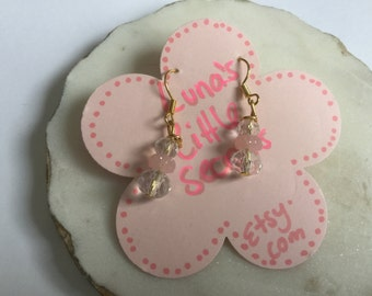 candy pink earrings, during