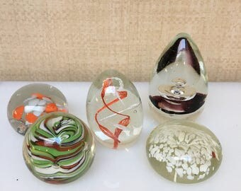 Bundle of 5 paperweights