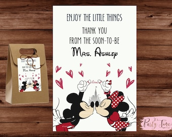 Thank you cards - Bridal Thank you cards - Bridal Shower Thank You Cards - Mickey and Minnie Bridal Shower Thank You Cards.