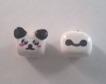 Kawaii Square Polymer Clay Charms