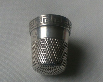 Vintage Sterling Silver  Thimble made by Simons