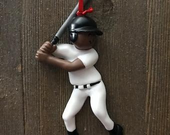 Personalized baseball Christmas ornament boy
