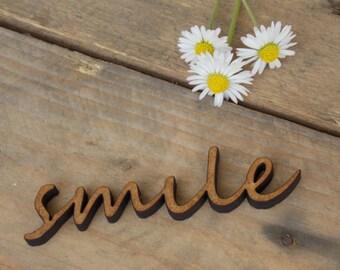 Typo 'smile' - decoration, wall decoration,