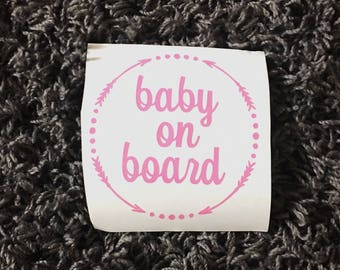 Baby On Board Car Decal, Baby on board, car decal, baby on board, baby, car decal, decal, baby on board
