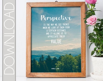 Perspective Quote Printable