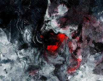 Red Abstract Art, Minimalist Art, Abstract Art Print, Modern Prints, Red Art Print, Canvas Prints of Red Painting, Abstract Painting Print
