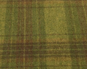 Margarita Mix Plaid, Felted Wool Fabric for Rug Hooking, Wool Applique and Crafts