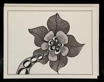 Original Art Card - Flower