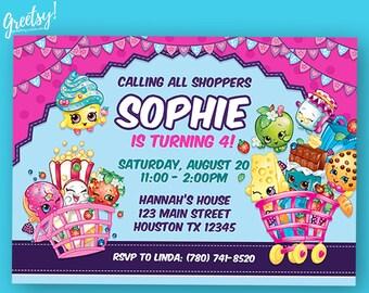 Shopkins Invitation, Shopkins Birthday, Shopkins Party, Shopkins Invites, Shopkins Printables, Shopkins Invite, Shopkins Printable Card