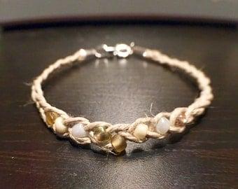 Beaded & Braided Hemp Bracelet