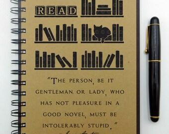 Jane Austen Notebook Bookish Book Lover Gift