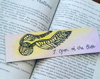 Harry Potter bookmark Golden Snitch