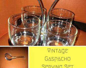Vintage Gaspacho Serving Set