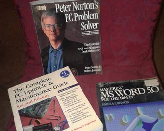 3 vintage computer books~ Ships FAST and FREE!