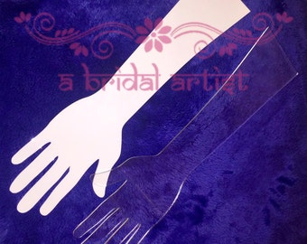 Acrylic Practice Hand Template for Henna Practice - Choose White or Clear (Transparent)
