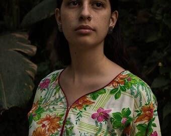 Tropical Floral Kurta Top