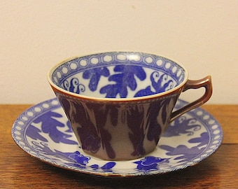 Cappucino decor Cup and saucer Chinese Porcelain